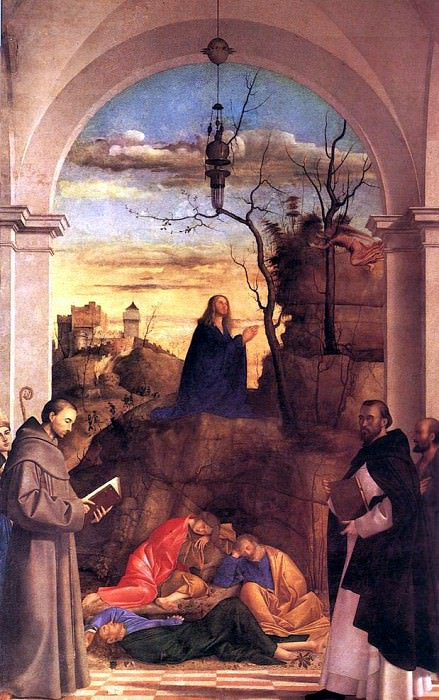 BASAITI Marco Christ Praying In The Garden. Итальянские художники