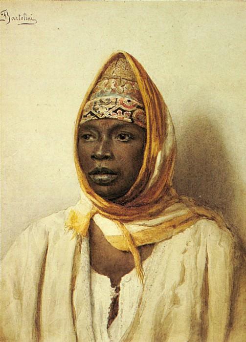 Bartolini Frederico Portrait Of An Arab Woman. The Italian artists