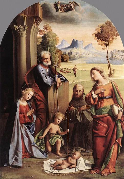 ORTOLANO Nativity With Saints. The Italian artists
