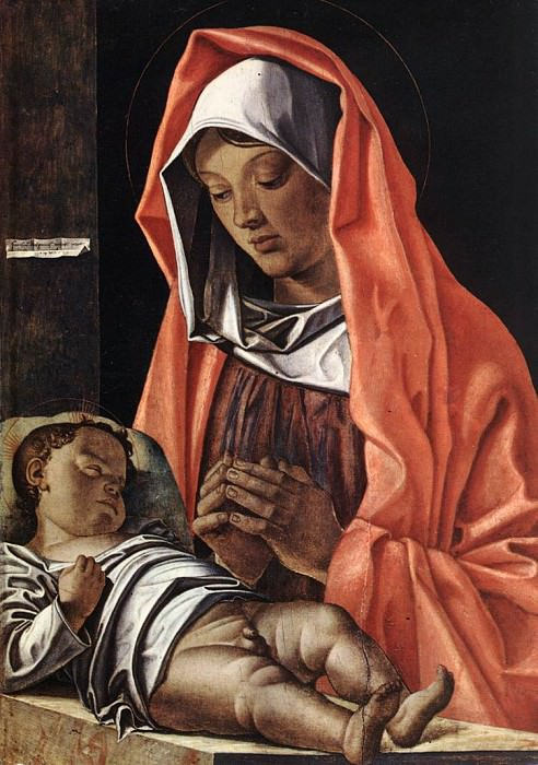 BONSIGNORI Francesco Virgin With Child. The Italian artists