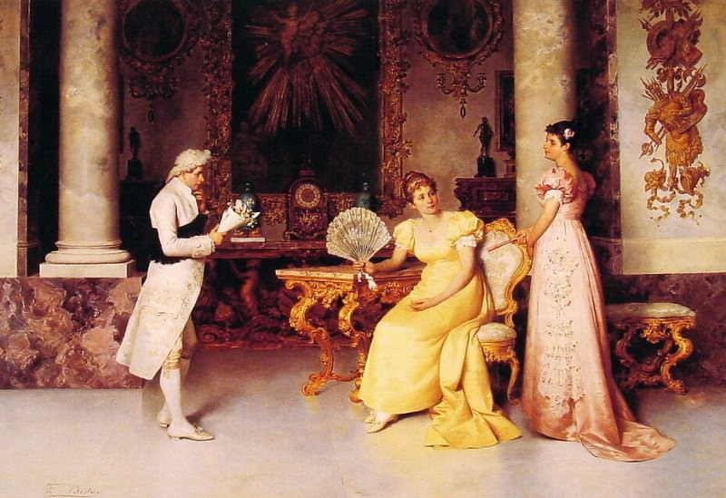 The Suitor. The Italian artists