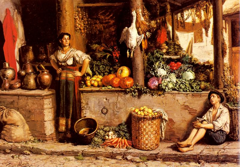 Meerts Frans Un Marche Aux Legumes. The Italian artists
