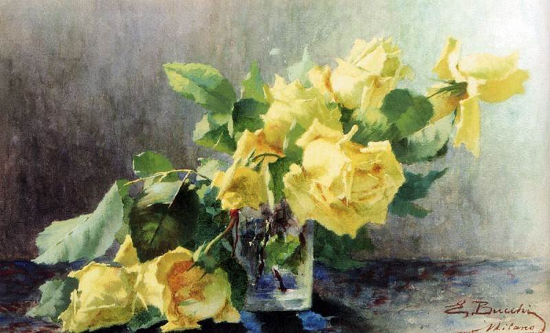 Bucchi Ermocrate Le Rose Gialle. The Italian artists