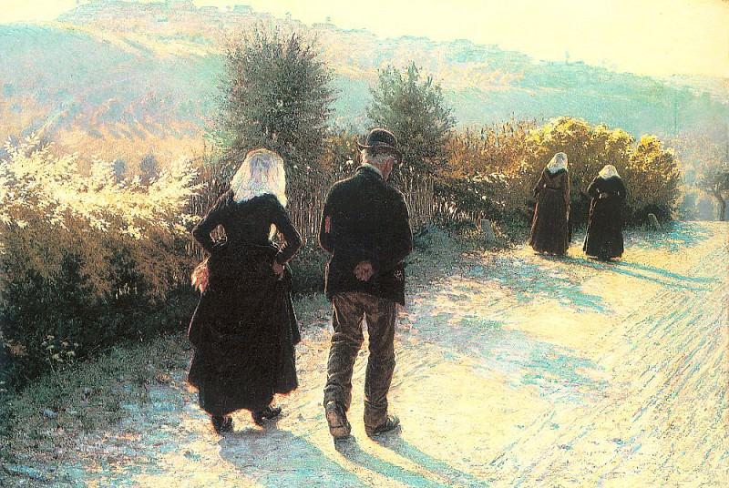 Morbelli, Angelo (Italian, 1853-1919). The Italian artists