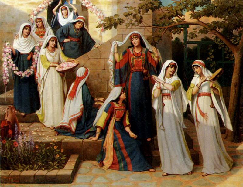 Longmaid William The Dance Of The Virgins. The Italian artists