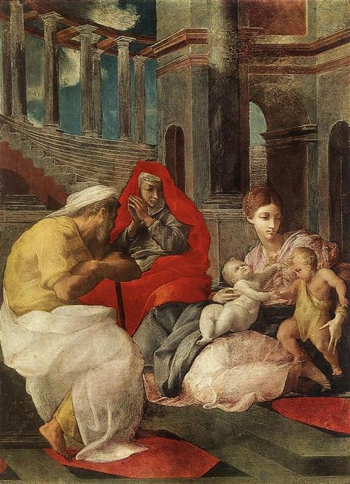 PRIMATICCIO Francesco The Holy Family With Sts Elisabeth And John The Baptist. The Italian artists