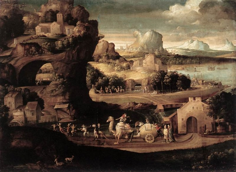 CARPI Girolamo da Landscape With Magicians. The Italian artists
