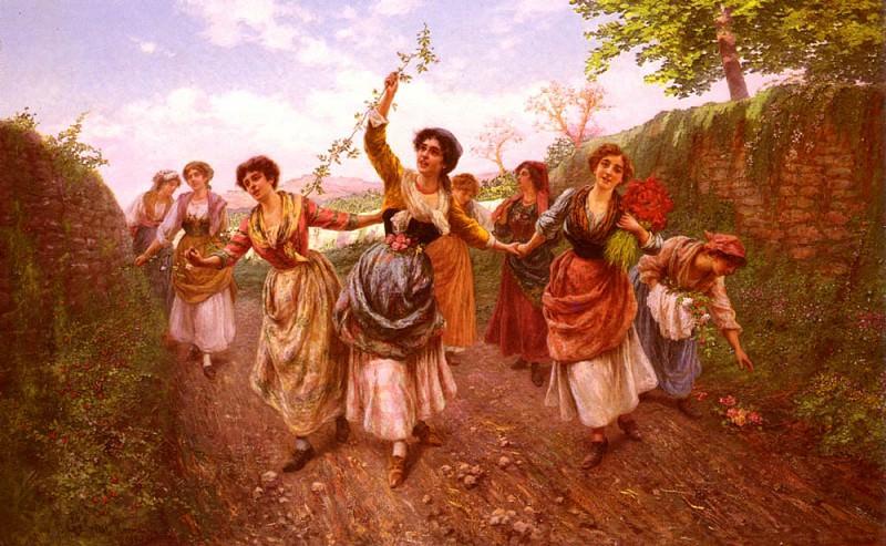 Пьетро Габрини - Празднование весны. Итальянские художники