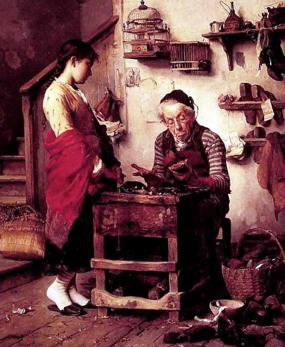 The Cobbler. The Italian artists