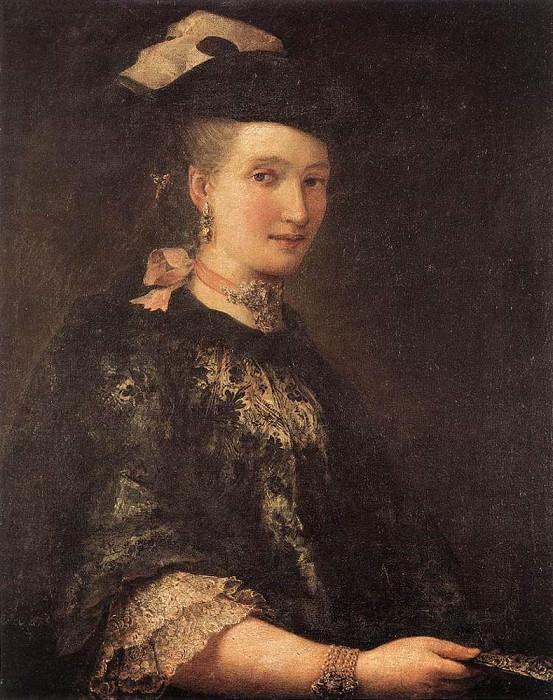 LONGHI Alessandro Portrait Of A Lady 1770. Итальянские художники