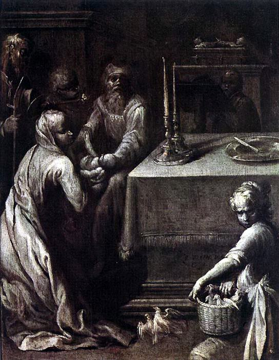 VARIN Quentin Presentation Of Christ In The Temple. The Italian artists