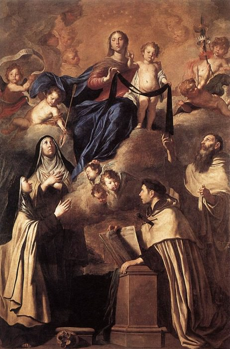 NOVELLI Pietro Our Lady Of Mount Carmel. The Italian artists