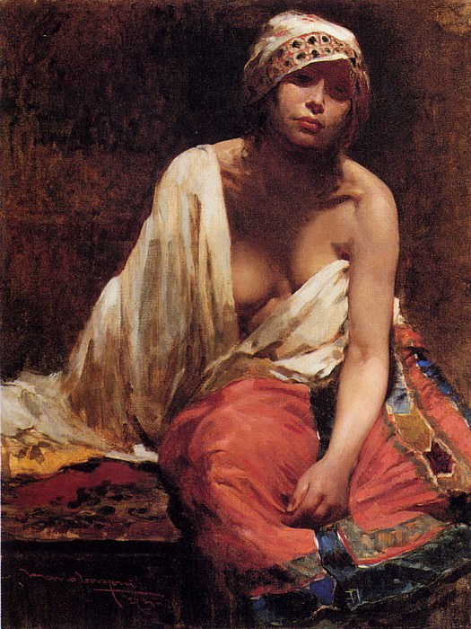 Borgoni Mario A Harem Beauty. The Italian artists