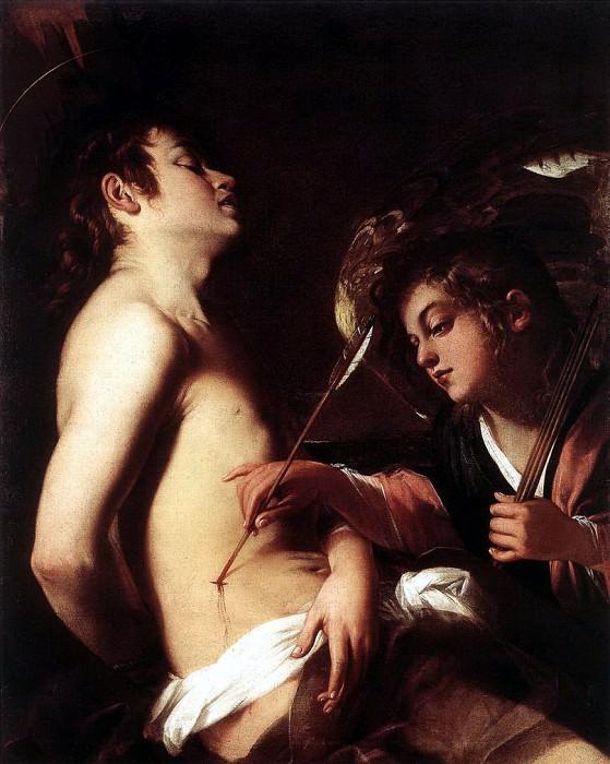 BAGLIONE Giovanni St Sebastian Healed By An Angel. The Italian artists