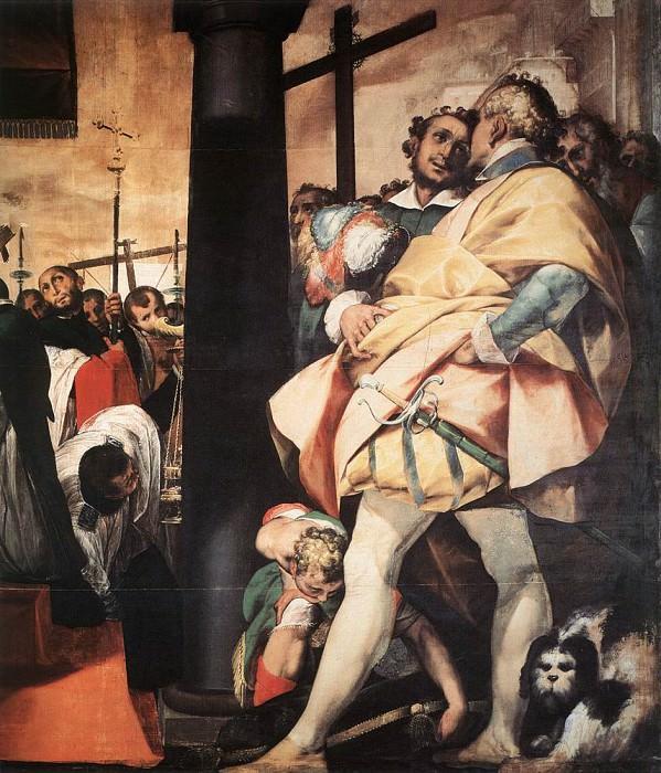 CRESPI Giovanni Battista St Charles Bprromeo Erecting Crosses At The gates Of Milan detail. The Italian artists