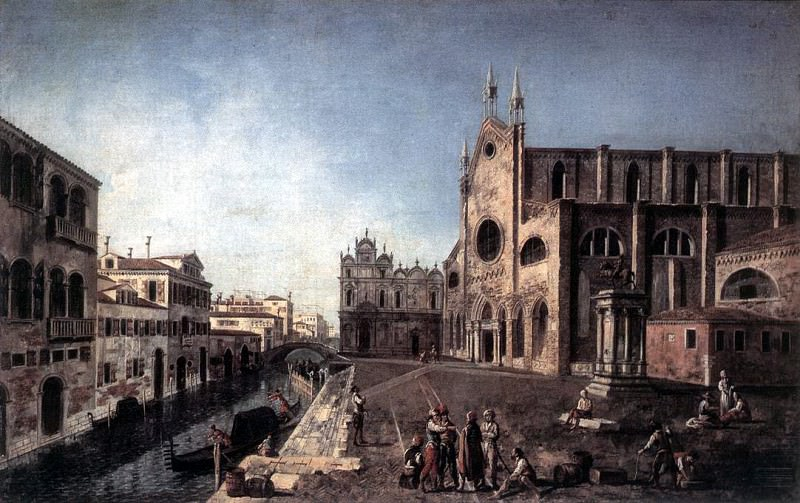 ALBOTTO Francesco View Of Campo Santi Giovanni E Paolo. Итальянские художники