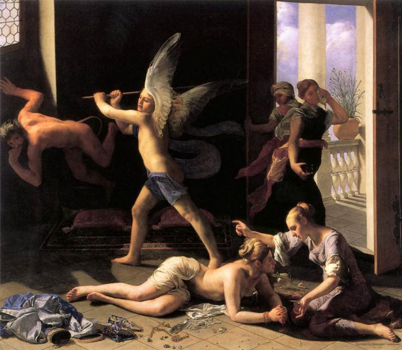 CAGNACCI Guido Martha Rebuking Mary For Her Vanity. Итальянские художники
