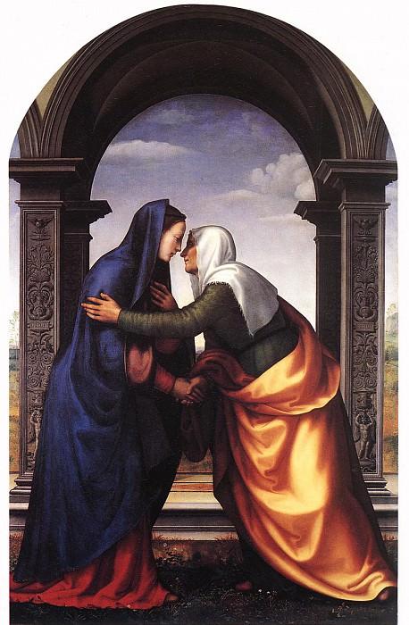 ALBERTINELLI Mariotto Visitation. The Italian artists