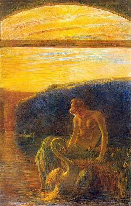 Previati, Gaetano (Italian, 1852-1920) 2. The Italian artists