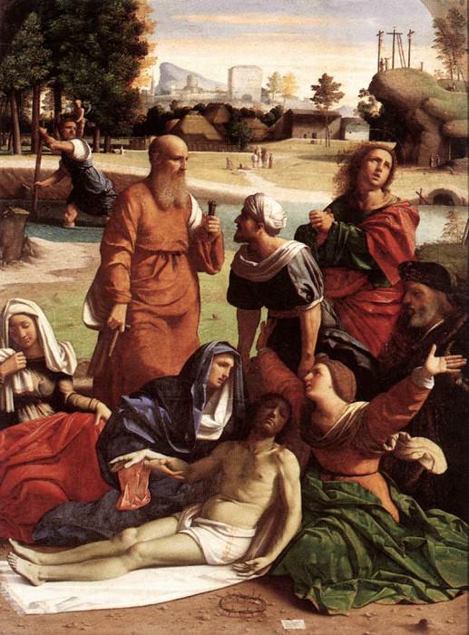 ORTOLANO Mourning The Dead Christ. Итальянские художники