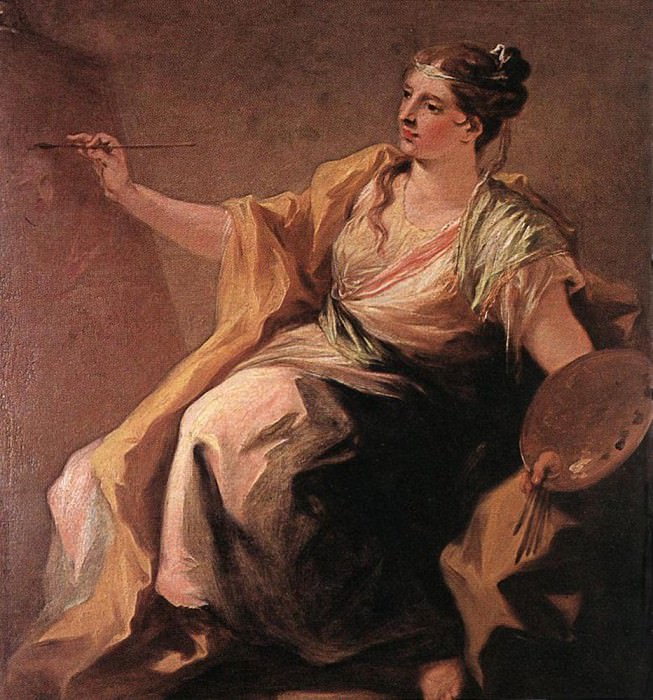 PELLEGRINI Giovanni Antonio Allegory Of Painting. Итальянские художники