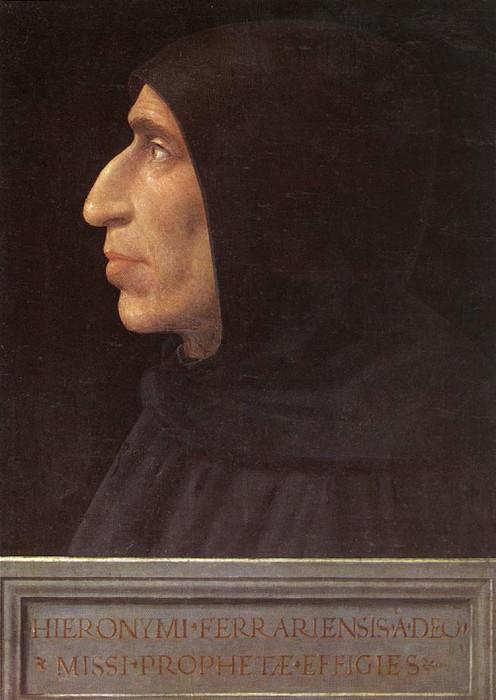 Bartolomeo Fra Portrait of Girolamo Savonarola c1498. The Italian artists