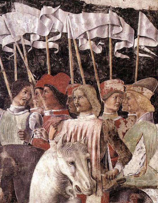 BALDASSARE ESTENSE Horseman detail. The Italian artists
