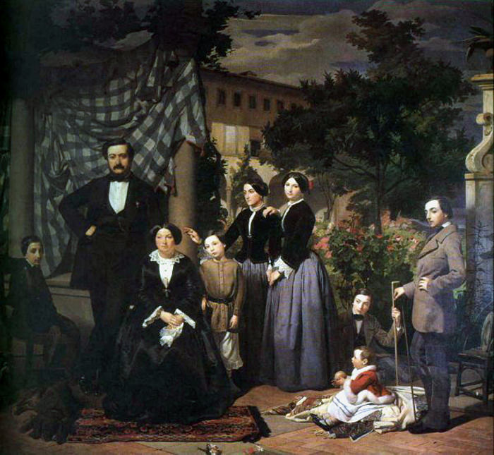 Ciseri Antonio La Famiglia Bianchini 1853 5. The Italian artists