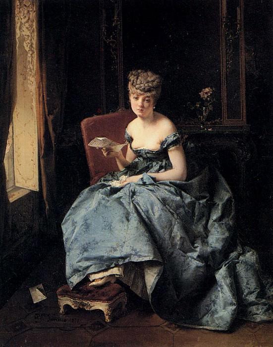 Induno Domenico The Letter. The Italian artists