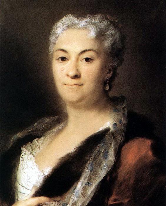 CARRIERA Rosalba Elderly Lady. The Italian artists