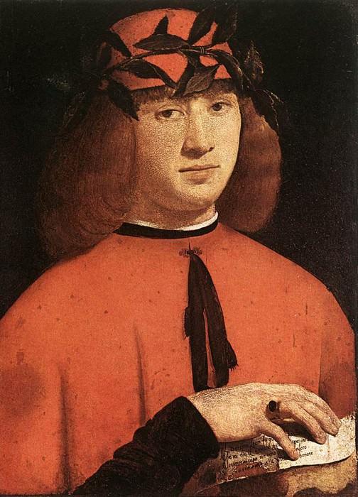 Boltraffio Giovanni Antonio Portrait of Gerolamo Casio 1495. The Italian artists