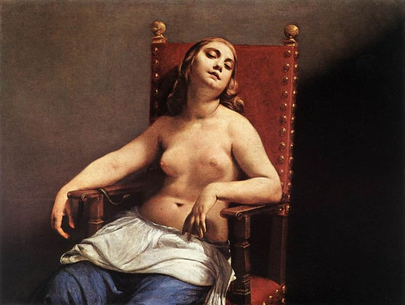 CAGNACCI Guido The Death Of Cleopatra 1660. The Italian artists