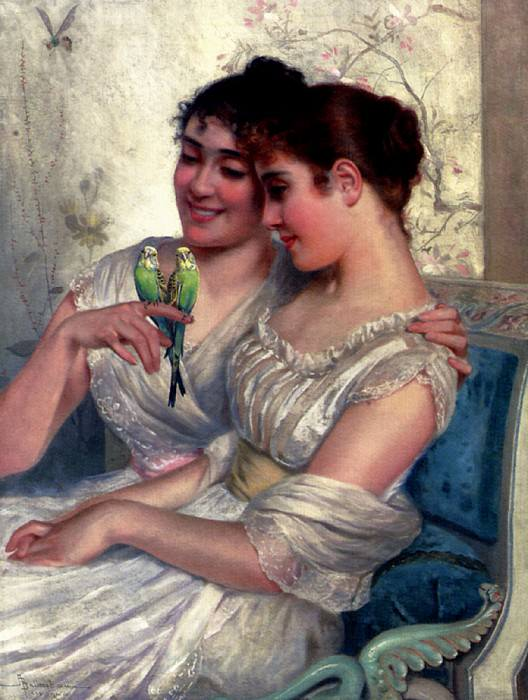 Belimbau Adolfo The Lovebirds. The Italian artists