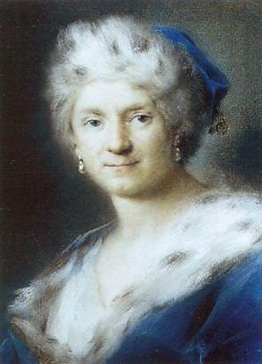 CARRIERA Rosalba Self Portrait As Winter. The Italian artists