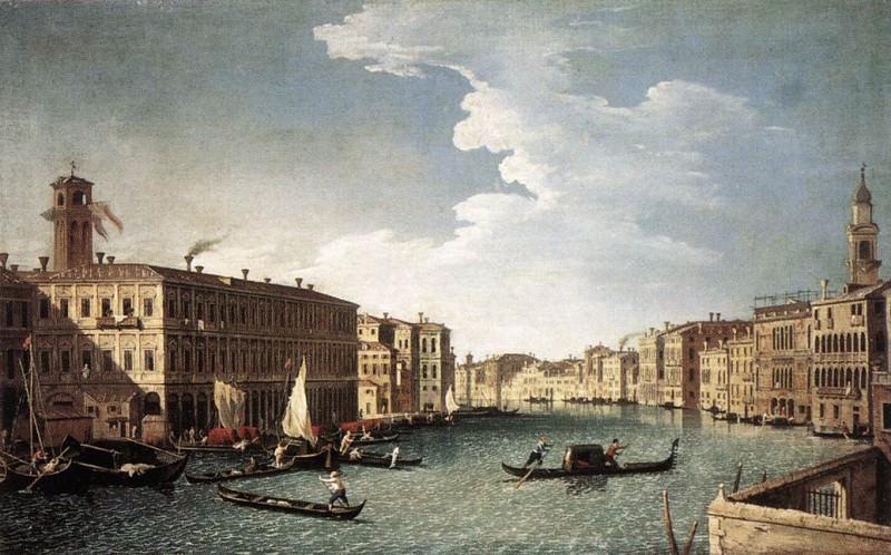 CANAL Bernardo The Grand Canal With The Fabbriche Nuove At Rialto. Итальянские художники