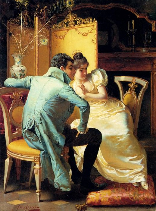 Ricci Pio Elegant Couples In Interiors Pic 1. The Italian artists