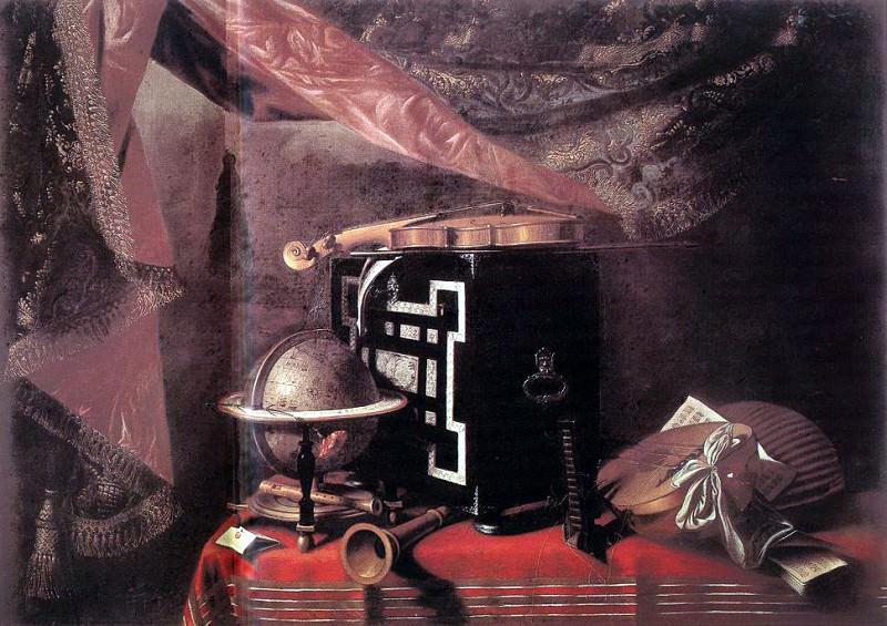 BASCHENIS Evaristo Still Life With Instruments. The Italian artists