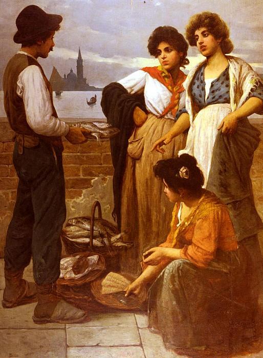 Pastega Luigi The Fish Seller. Итальянские художники