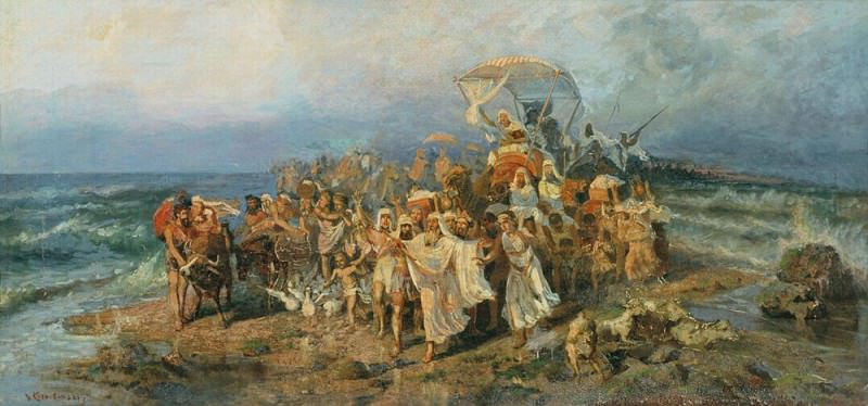 Go Jews through the Red Sea. . The second half of XIX century. Rybinsk. Kotarbinski William A.