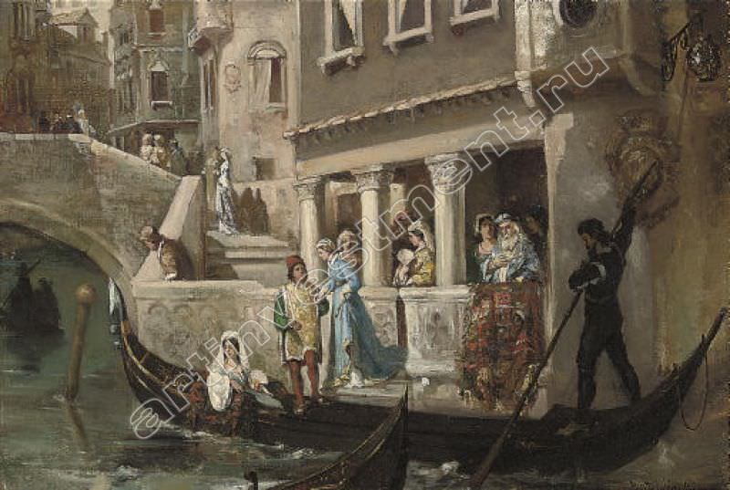 Noble Venetian gondolas in. Kotarbinski William A.