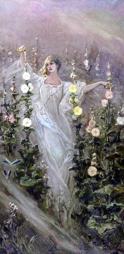 Girl Between Hollyhocks, private collection 2. Kotarbinski William A.