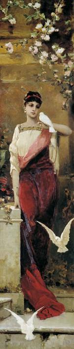 Woman with pigeons. Kotarbinski William A.