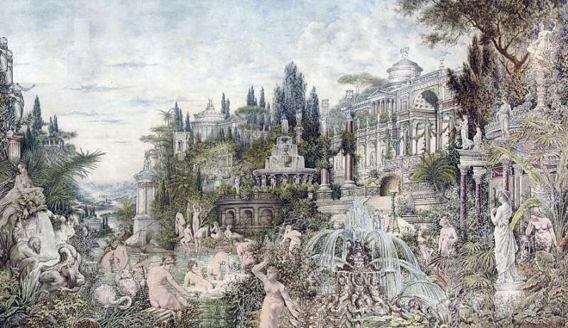 An enchanted garden. 1882. Котарбинский Вильгельм Александрович