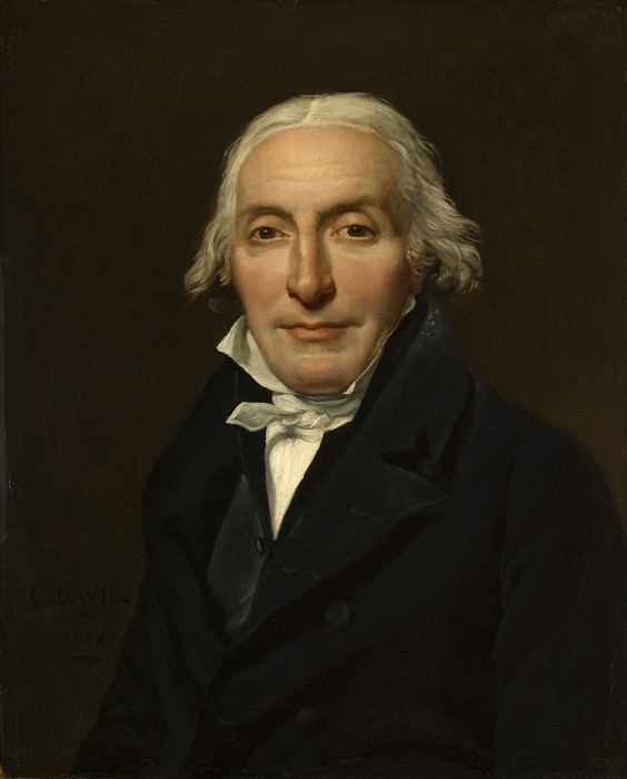 Jacques-Louis David - Portrait of Jean-Pierre Delahaye. Los Angeles County Museum of Art (LACMA)