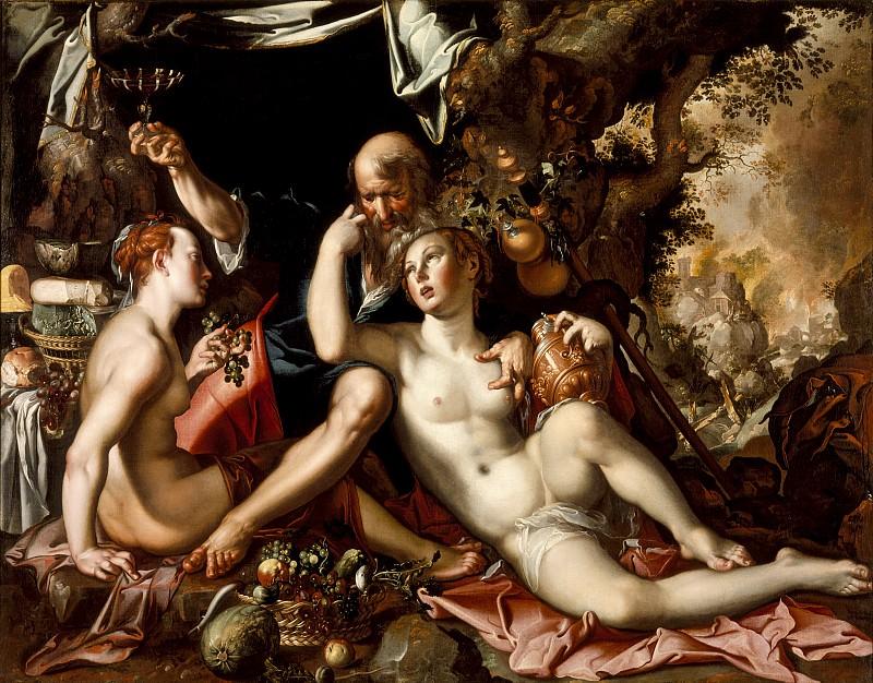 Joachim Antonisz Wtewael - Lot and His Daughters. Los Angeles County Museum of Art (LACMA)