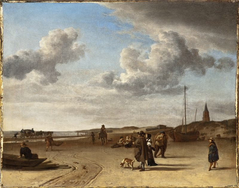 Адриан ван де Вельде - Морской берег в Схевенингене. LACMA (Лос Анджелес)