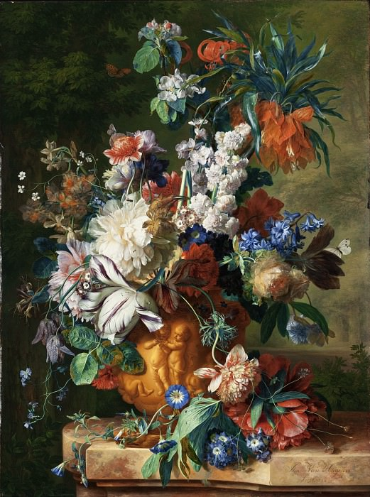Jan van Huysum - Bouquet of Flowers in an Urn. Los Angeles County Museum of Art (LACMA)