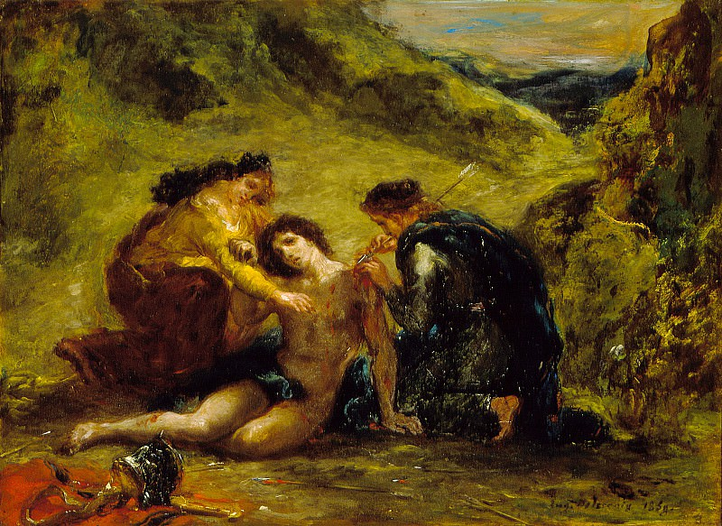 Eugene Delacroix - St. Sebastian with St. Irene and Attendant. Los Angeles County Museum of Art (LACMA)