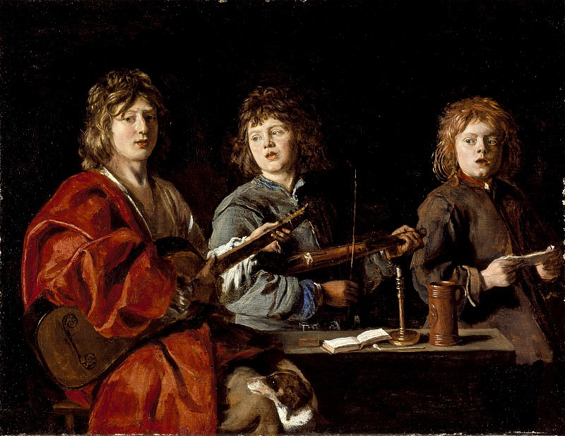 Antoine Le Nain - Three Young Musicians. Los Angeles County Museum of Art (LACMA)
