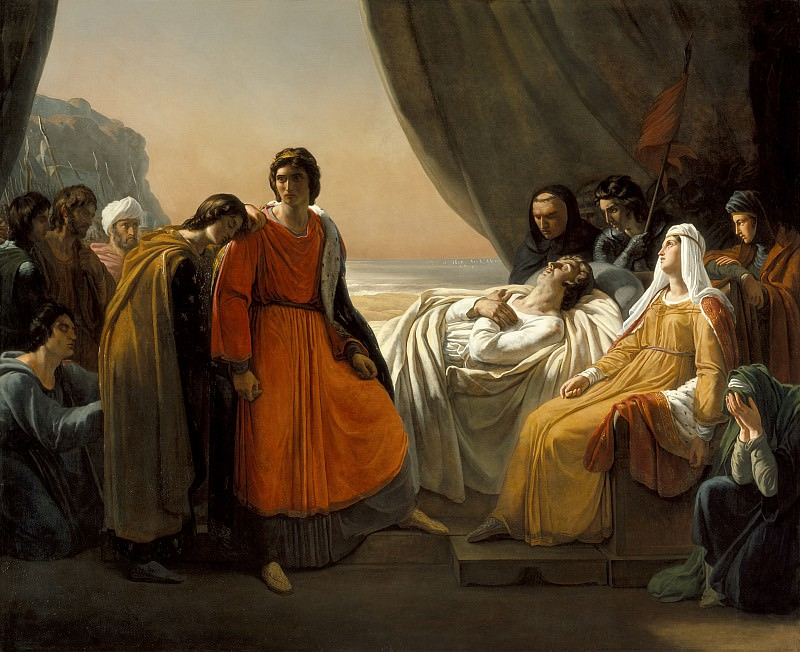 Ary Scheffer - The Death of Saint Louis. Los Angeles County Museum of Art (LACMA)